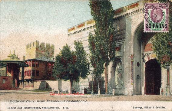 Porte du vieux Serail, Stamboul, Constantinople. 1890s