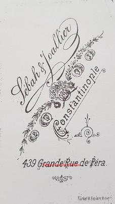 Carte du stodio 1890s