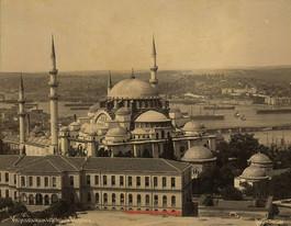 Vue Panoramique de la mosquee Suleymanie 107. 1890s