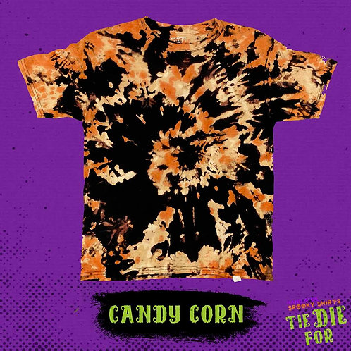 Candy Corn Tie Die For Shirt