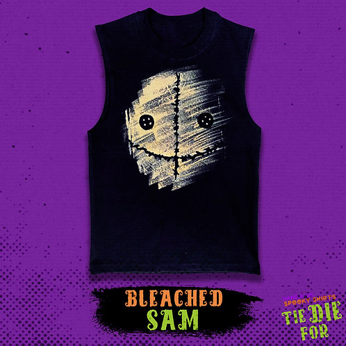 Bleached SAM Tie Die For Shirt