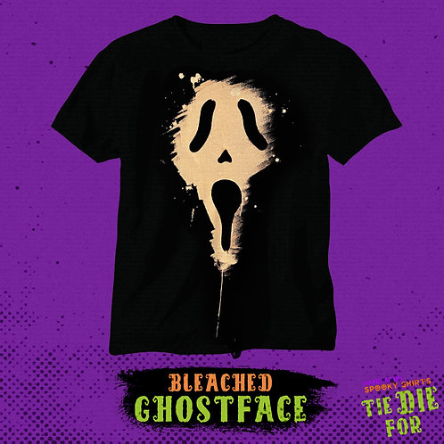 Ghost Face Bleached Tie Die For Shirt