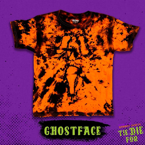 Ghost Face Tie Die For Shirt