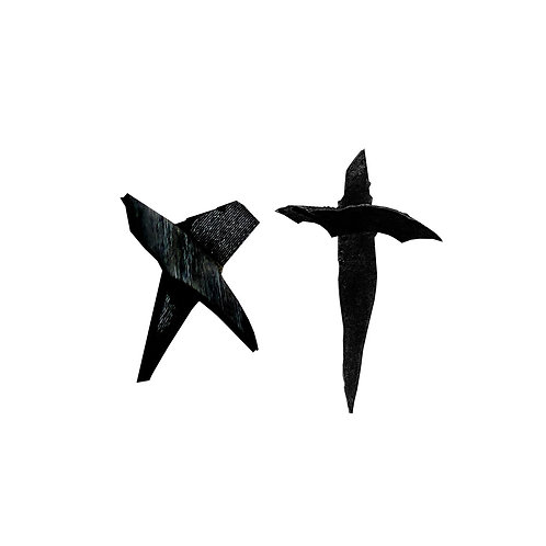 Cross + X Vinyl Earring Duo Pack