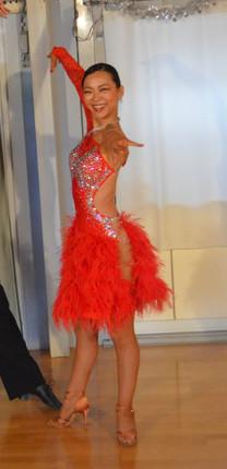 ラテンドレス赤フリンジ