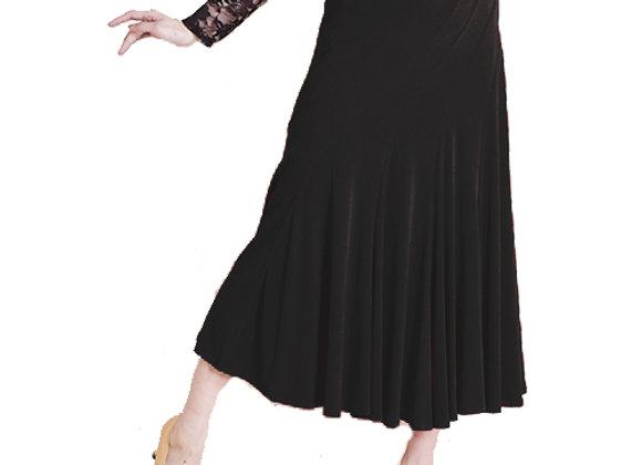 社交ダンス スカート  カラー:ブラック