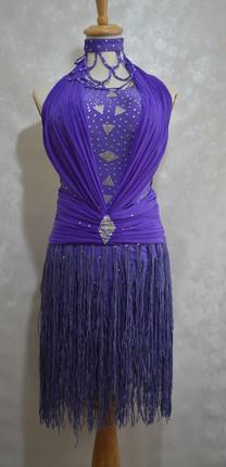 ラテンドレス紫フリンジ