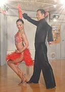 ラテンドレス赤フリンジスカート