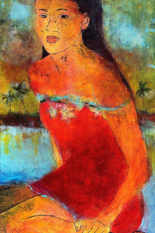 """Tahitian in Red"""