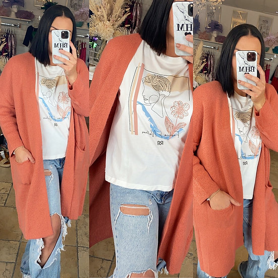 Coral Cosy Cardy
