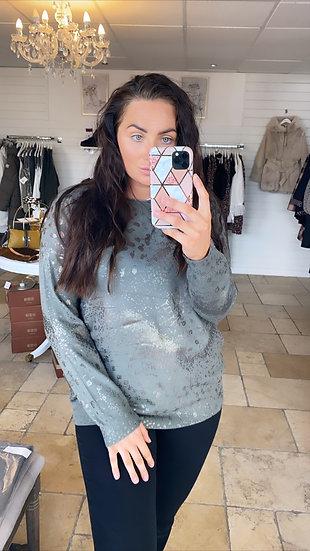 Khaki foil jumper