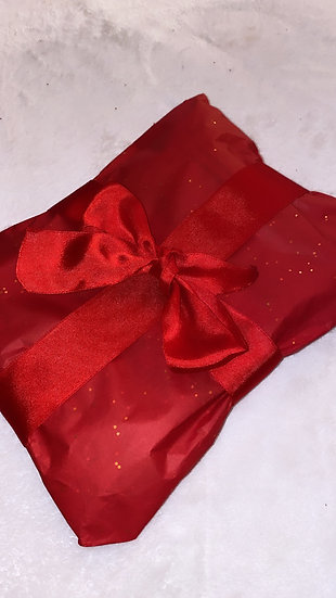 Tissue & ribbon gift wrap