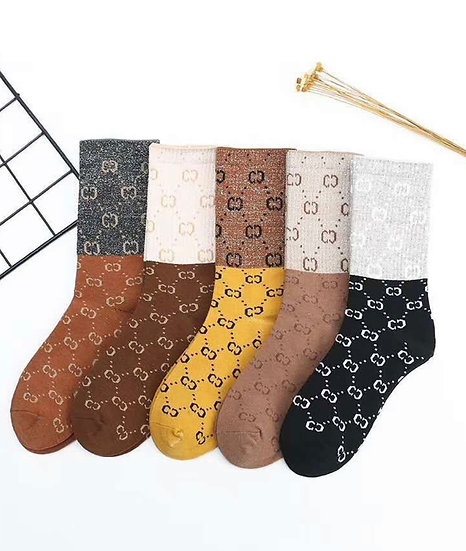 Long length designer socks