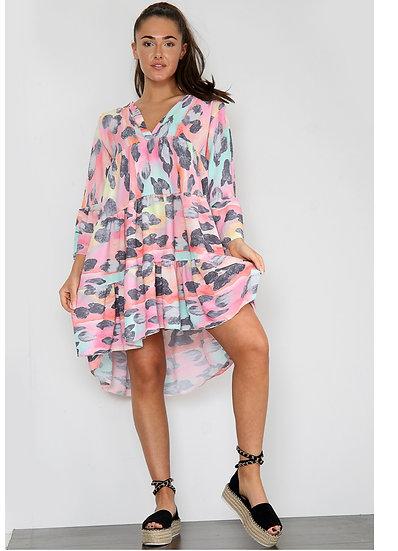 Animal smock dress