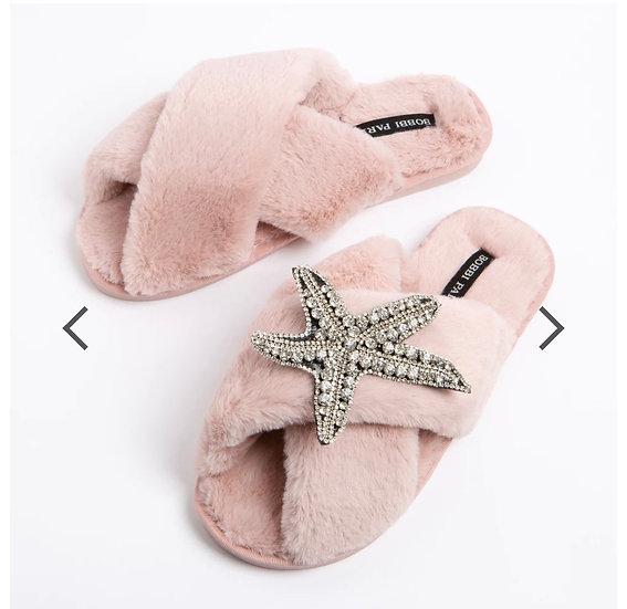 Pink Starfish Slippers