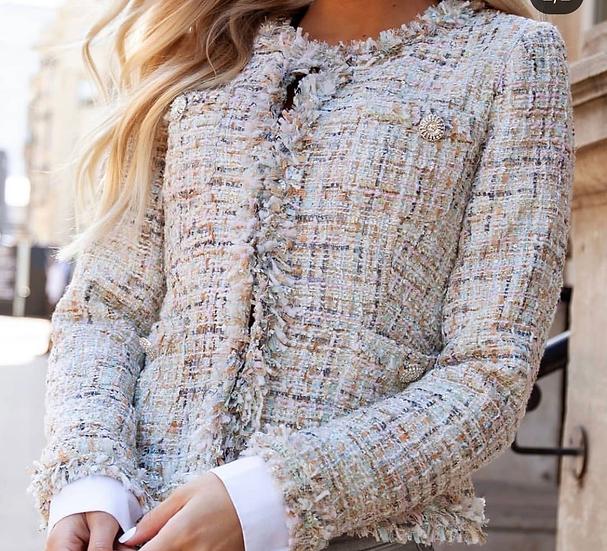 Tweed box jacket