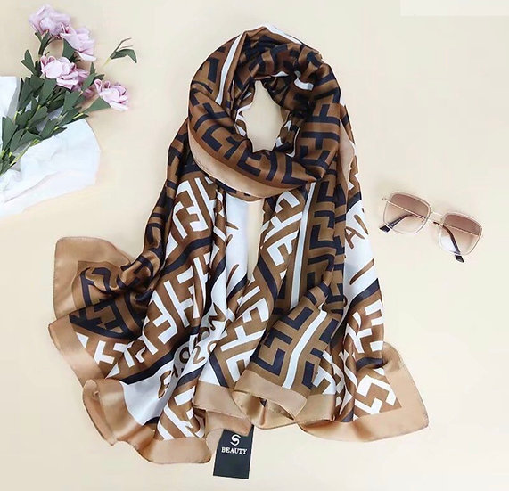 Silky brown scarf
