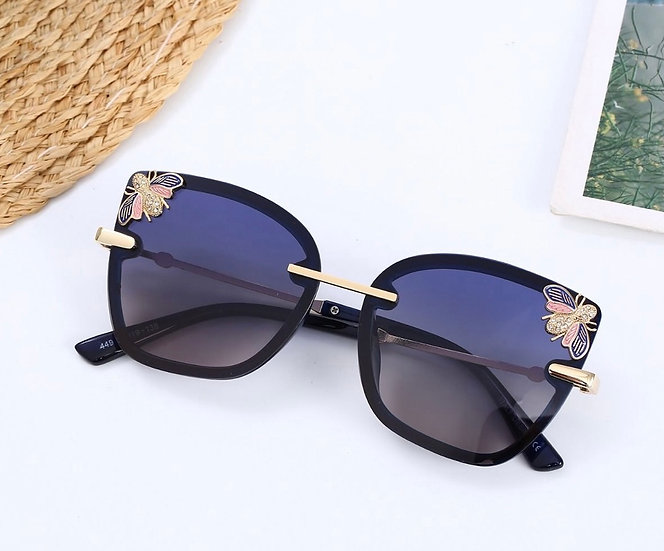 Navy Bee Sunglasses
