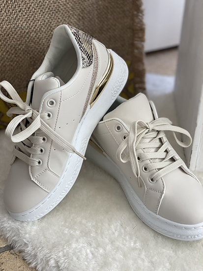 Beige trainers