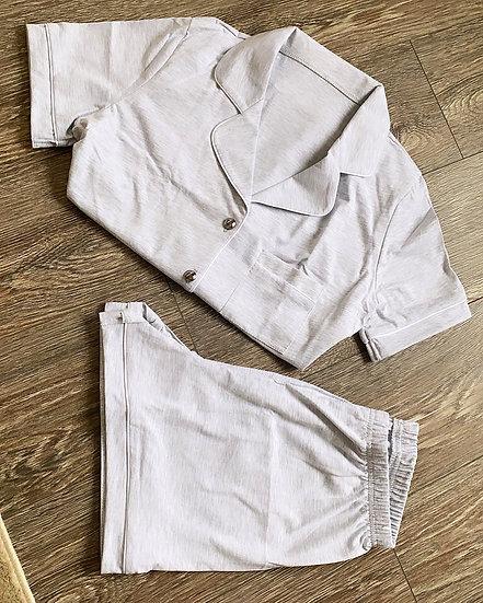 Grey short cotton pyjamas