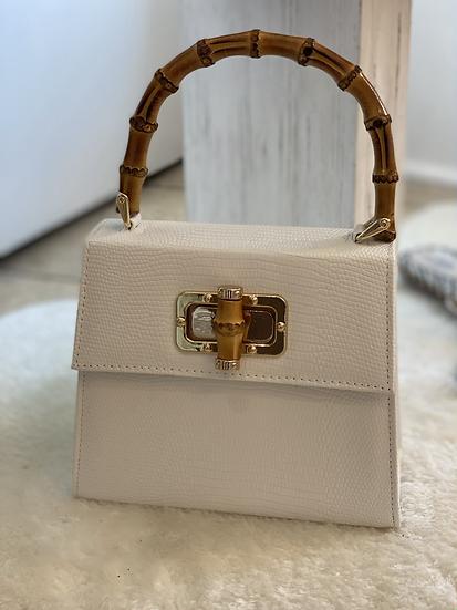 White Bamboo Mini Bag