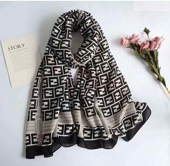 Cotton F scarf