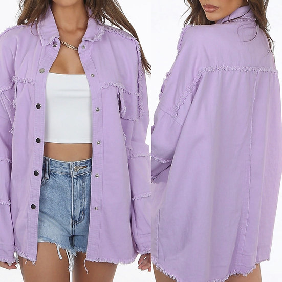 Lilac shacket