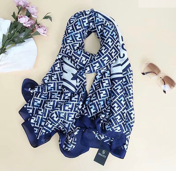 Silky navy scarf