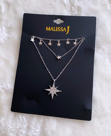 Tiered star necklace