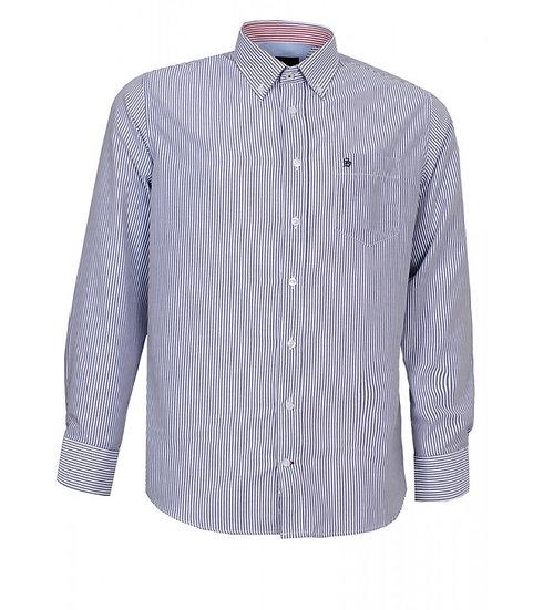 Men's navy stripe shirt