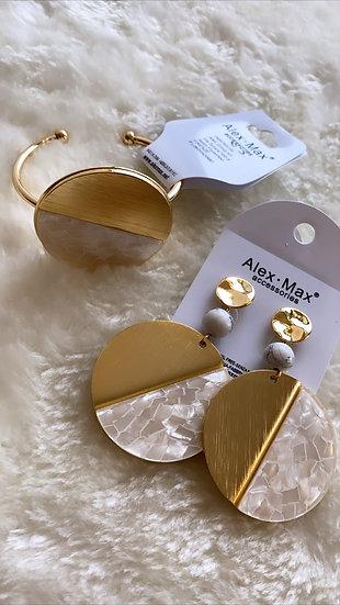 Shell Earring & Bracelet Set