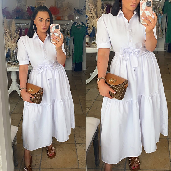 Cotton Belted Dress