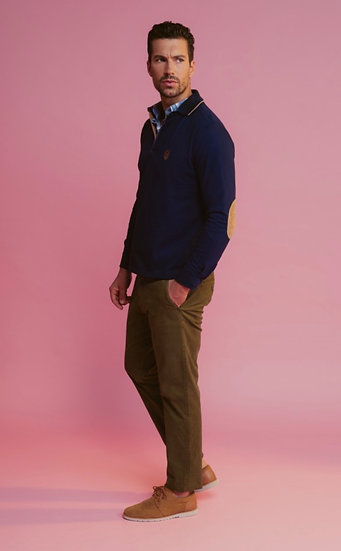 Men's long sleeved polo top