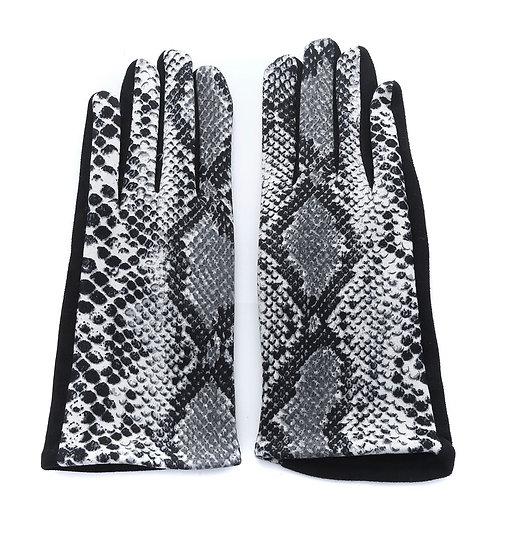 Snakeskin gloves