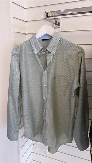 Men's green stripe shirt