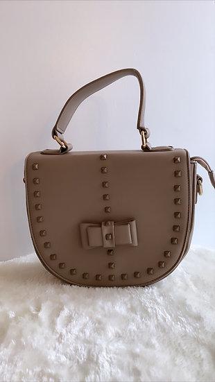 Taupe stud handbag