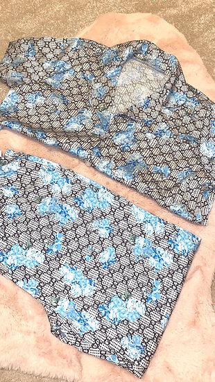 Blue Designer inspired pj's