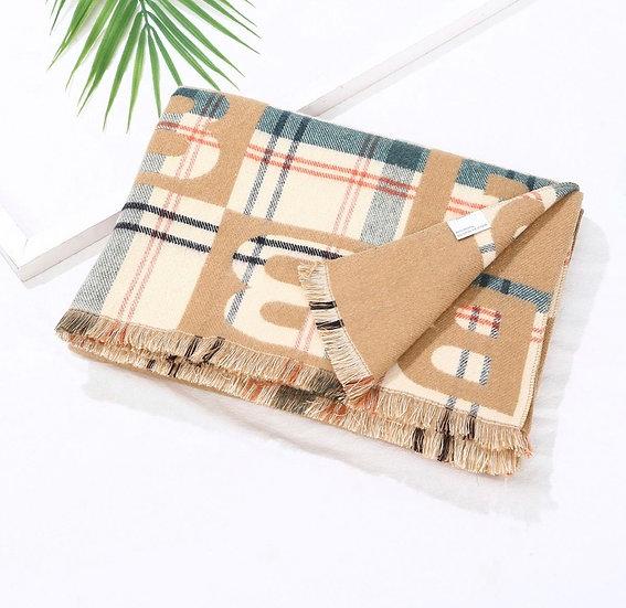 Camel wooly B scarf