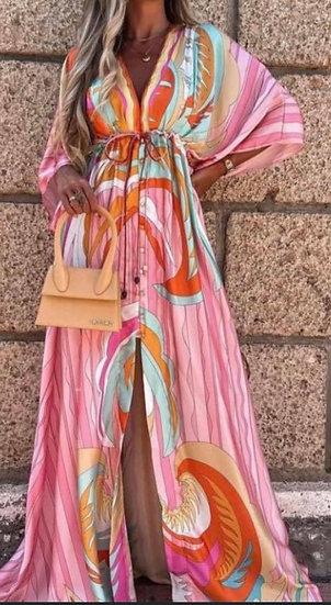 Silky maxi dress