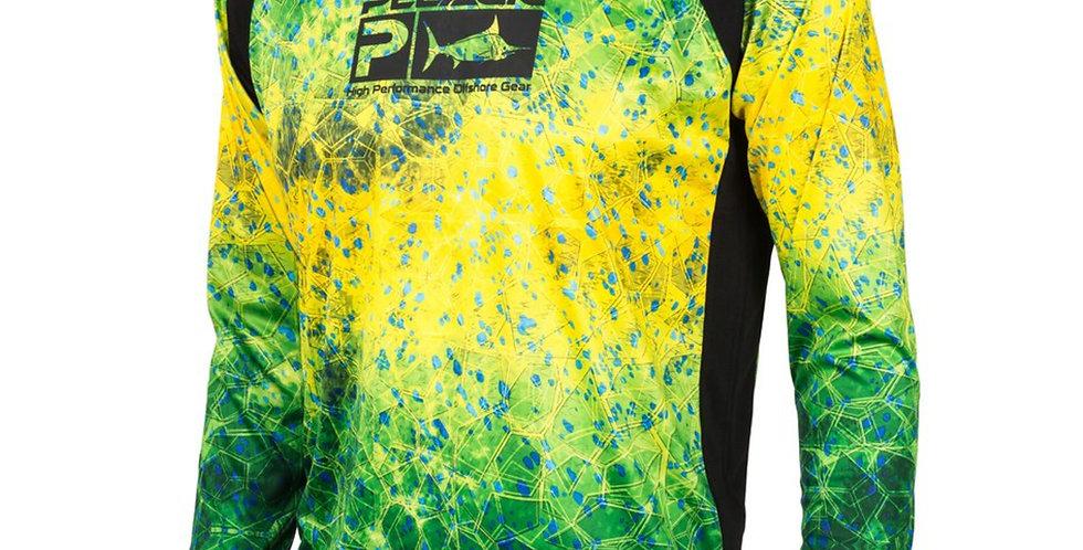 Pelagic Playera Vaportek Dorado Hex Green