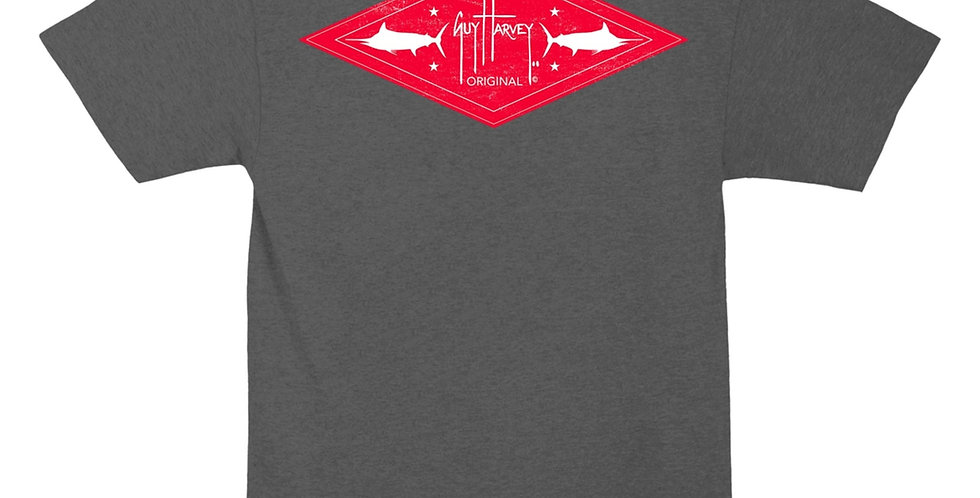 Guy Harvey Playera Two Fer Gris