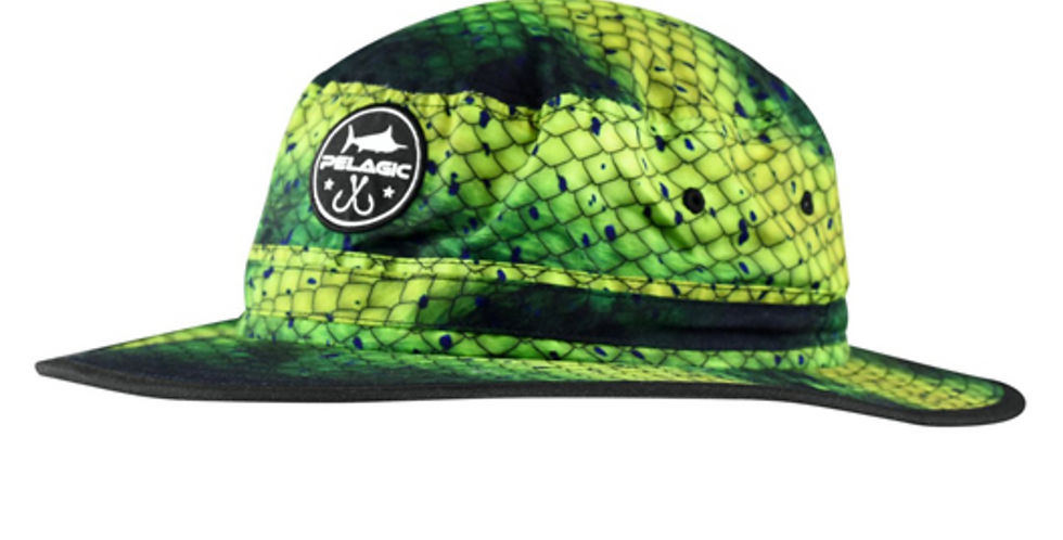 Pelagic Sombrero Sunsetter Bucket Dorado Green