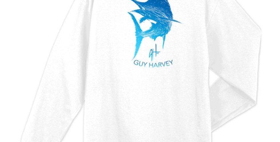 Guy Harvey Playera Marlin Scribble Manga Larga