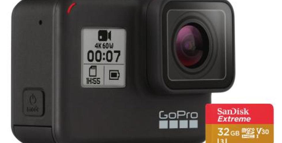 GoPro HERO7 Black Camara de Accion 4K 12MP + MicroSD 32GB