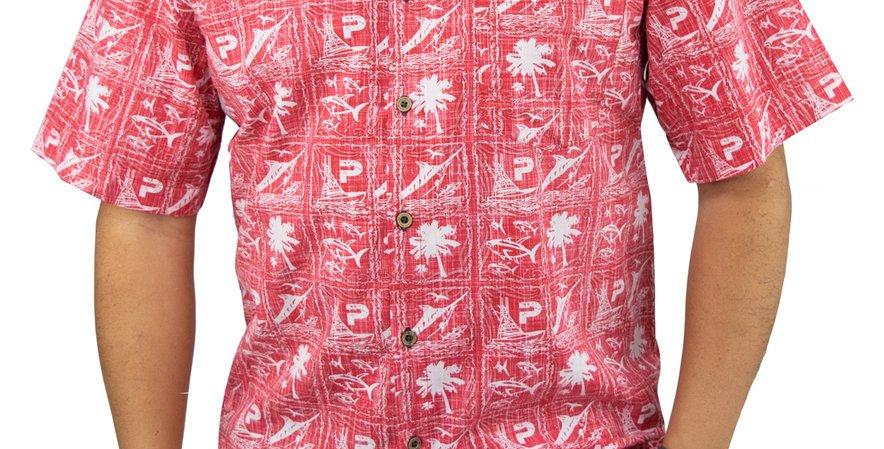 Pelagic Camisa Islander Woven Roja