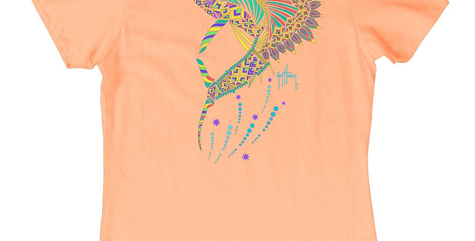 Guy Harvey Playera Dama Sailfish Mandala Melon