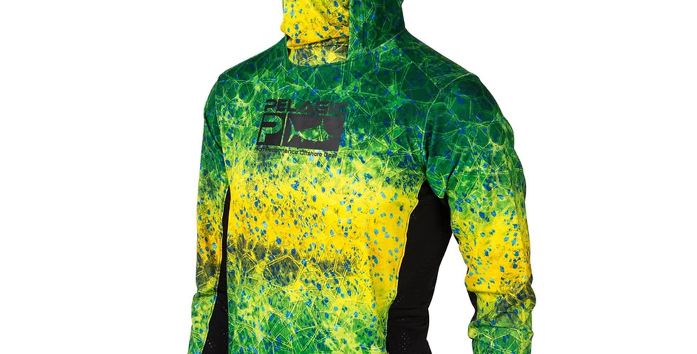Pelagic Playera Exo-Tech Green Dorado Hex