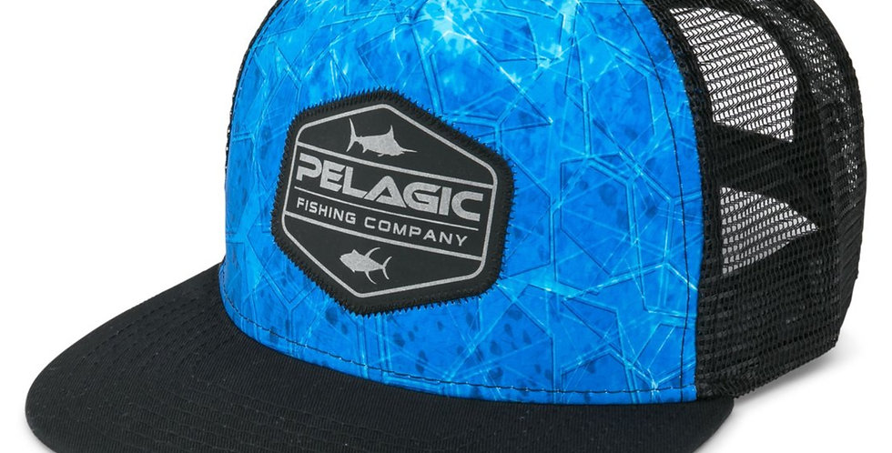 Pelagic Gorra Alpha Snapback Dorado Blue