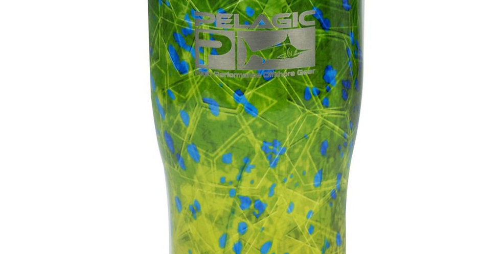 Pelagic Termo 20 Oz Green Dorado Hexed