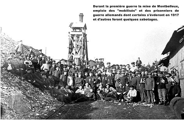 Monbelleux 1916-1918-devant-le-chevalement.